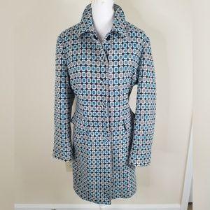 Nine West Blue Gray Retro Wool Blend Coat XL